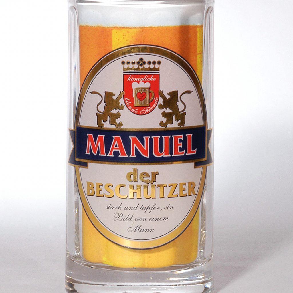 Bierseidl mit Namen